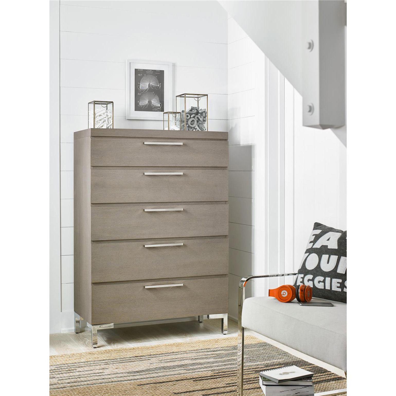 Brian Modern Classic Grey 5 Drawer Tall Wood Dresser Universal Furniture Storage Furniture Bedroom Wood Dresser [ 1540 x 1540 Pixel ]