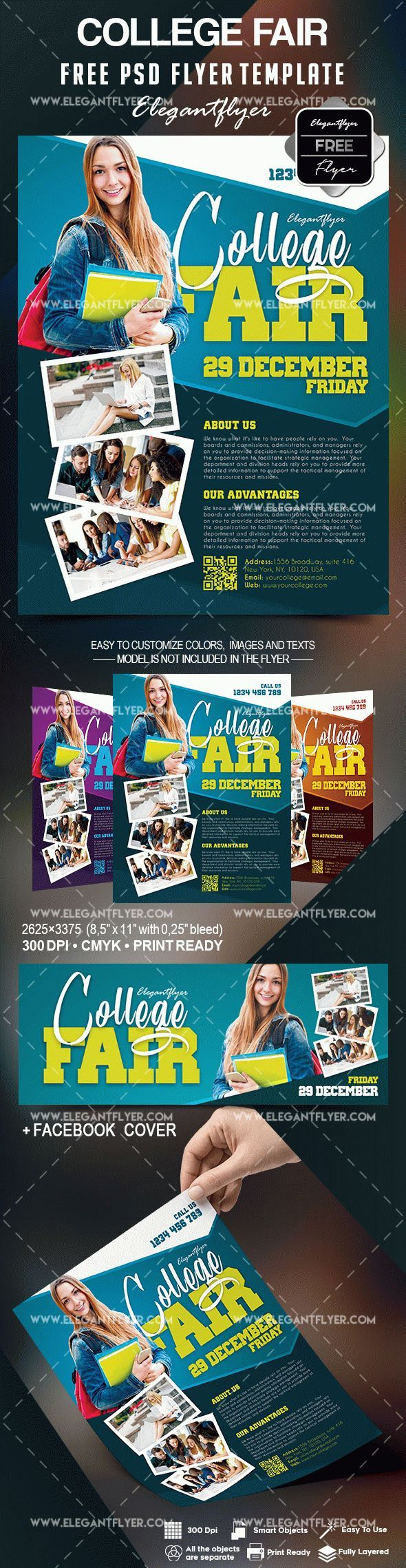 free college fair flyer template flayers pinterest flyer
