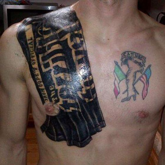Steelers fan 39 s 39 terrible towel 39 tattoo is quite amazing for Pittsburgh tattoo ideas
