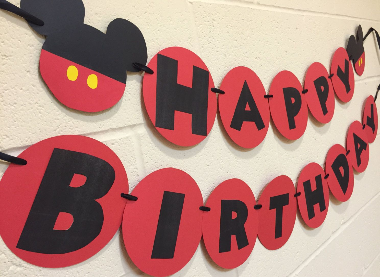mickey mouse happy birthday banner mickey mouse birthday mickey