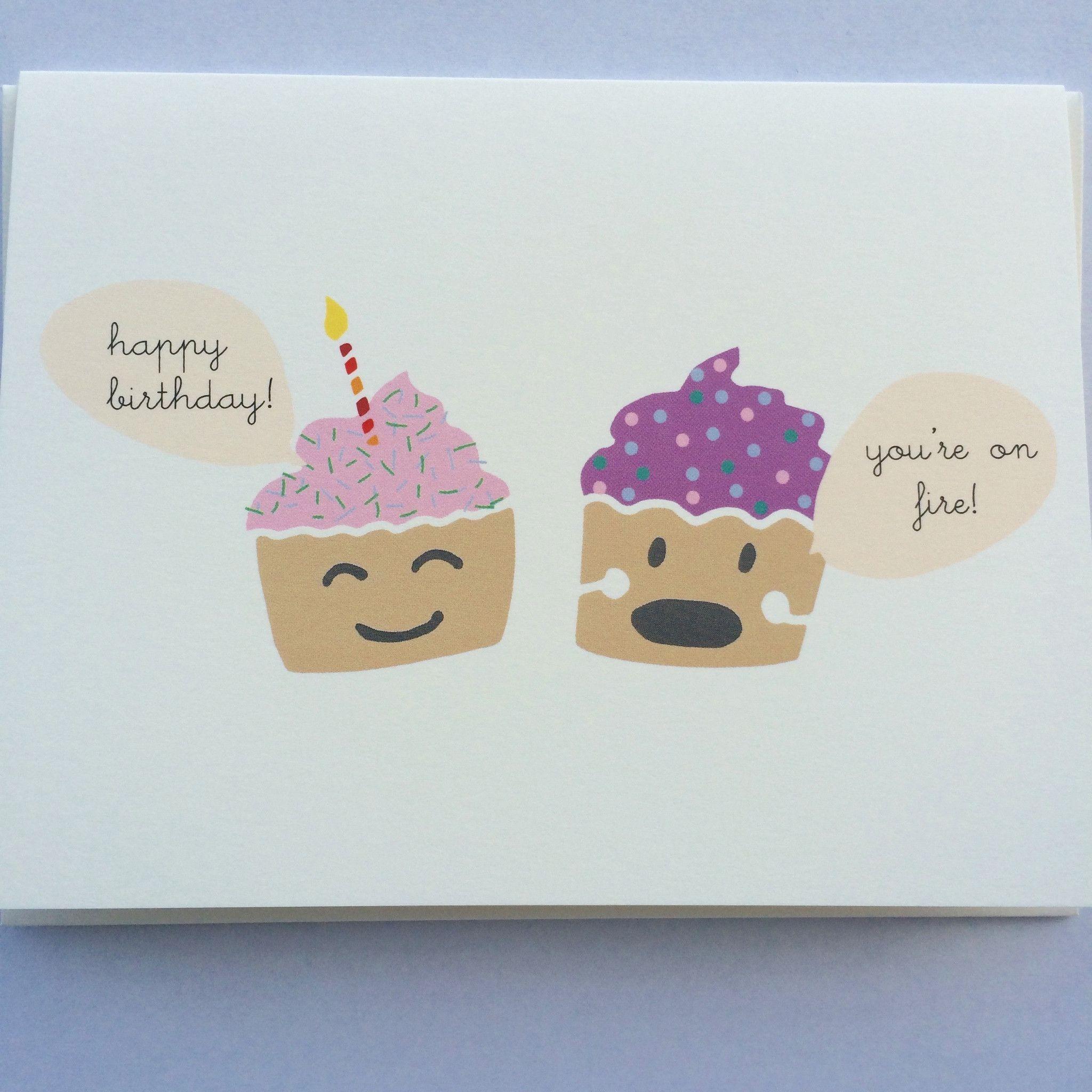 Birthday cupcakes card funny birthday cards girl
