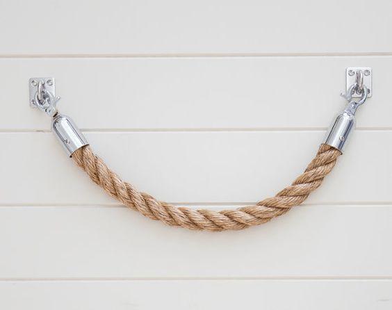 ROPE TOWEL HOLDER rack handmade manila rope for kitchen, bathroom - handtuchhalter für küche