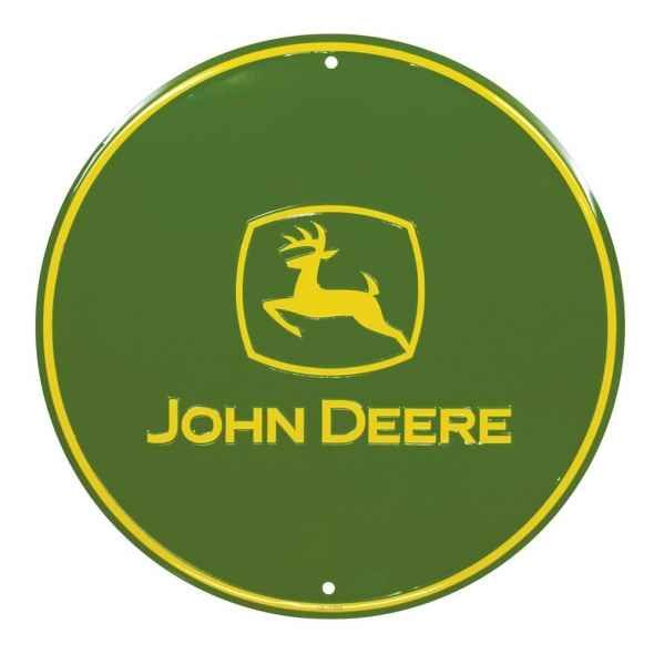 John Deere Kitchen Ideas: John Deere Round Sign, Green