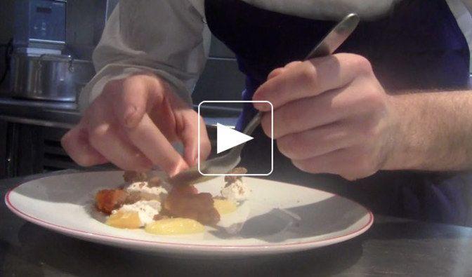 Courge Butternut, lemon curd et ricotta, par Guillaume Iskandar, Garance, ParisPour 4 personnes- 200 g de courge Butternut- 100 g de sucre- 1 gouss...