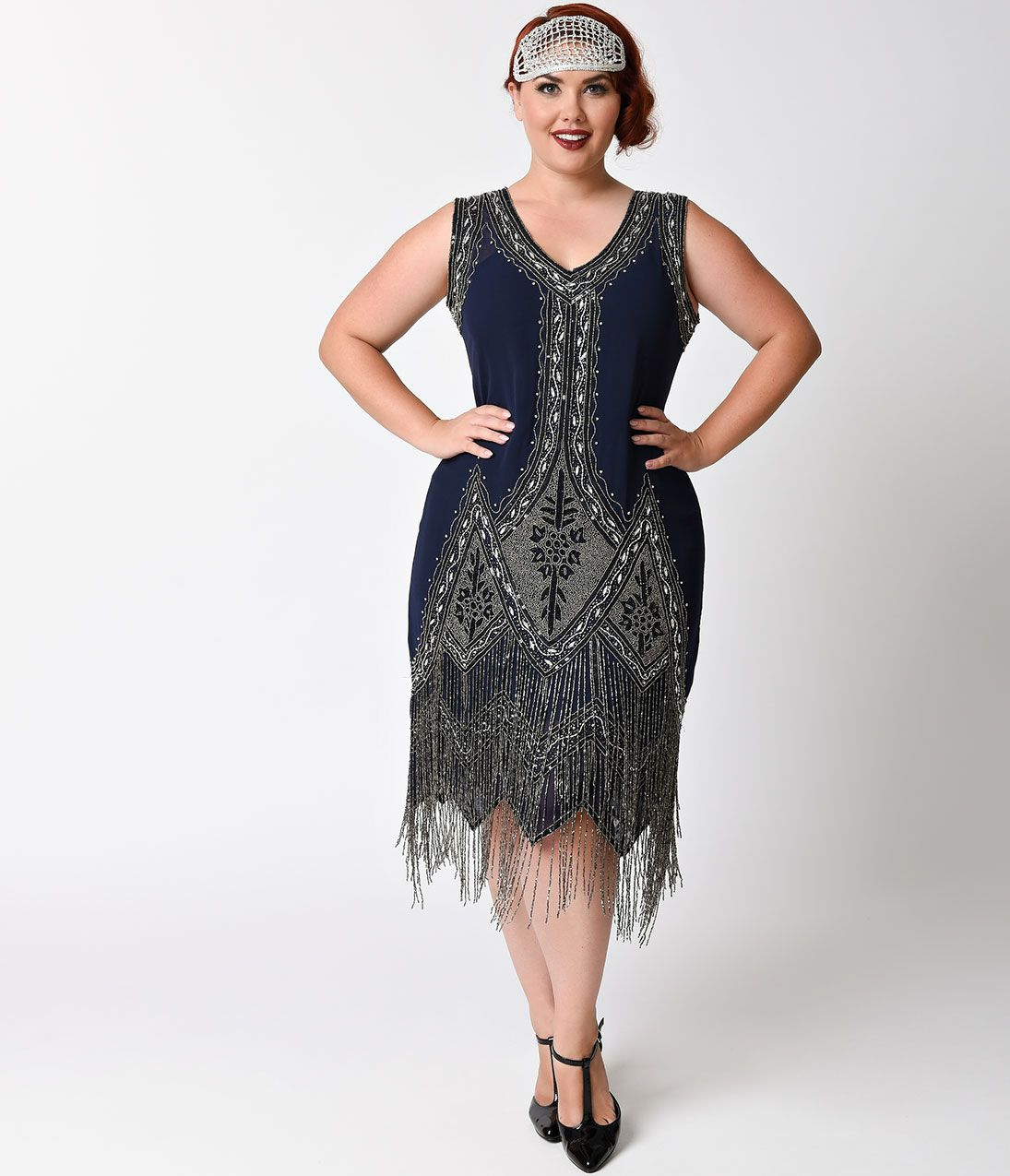 1920s Style Cocktail Party Dresses, Evening Gowns Plus