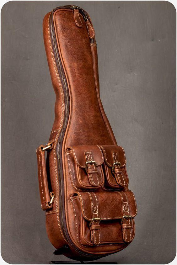 Leather Guitar Bag Guitar Bag Guitar Accessories Ukulele Music