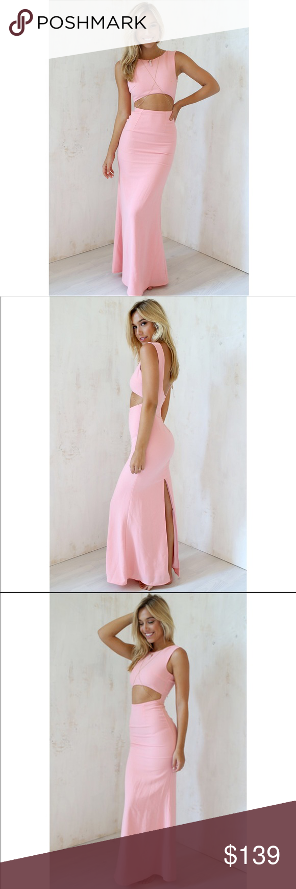 f306ef3691 Spotted while shopping on Poshmark: Sabo Skirt Pink Blush Leader Maxi  Formal Gown! #poshmark #fashion #shopping #style #Sabo Skirt #Dresses &  Skirts