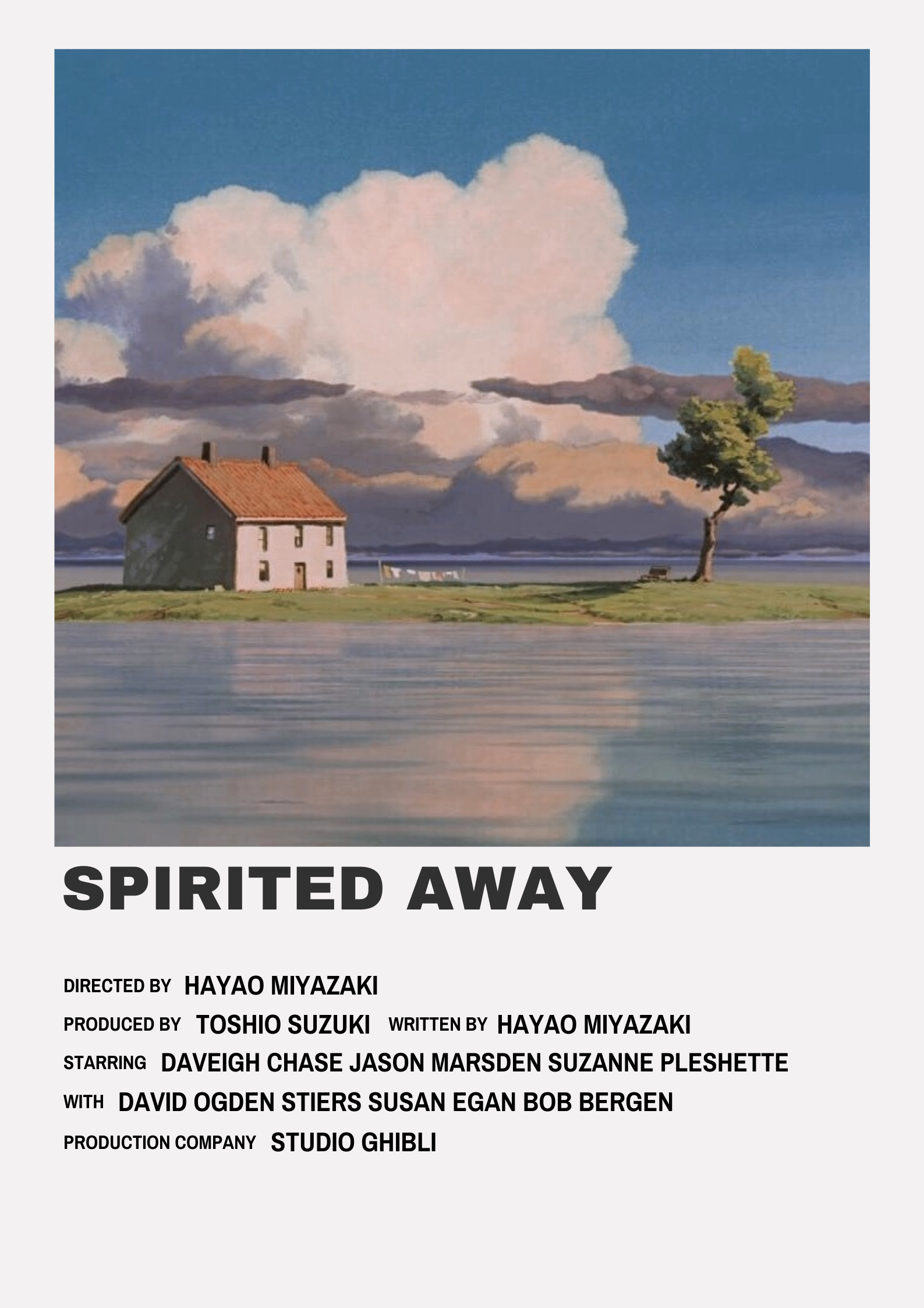 Spirited Away Minimalist Film Poster | Studio ghibli ...