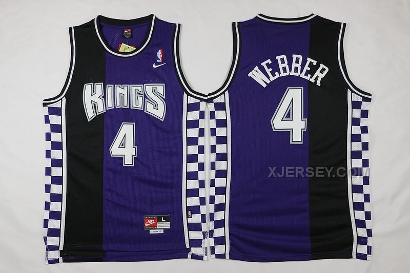 nba sacramento kings chris webber authentic jersey 4 adidas black throwback mens adidas18250 nba sacramento kings webber purple black 2016 the new sea