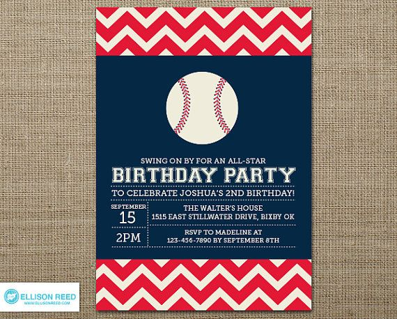 Baseball Birthday Invitation Baseball Invitation Baseball – Free Printable Baseball Birthday Invitations
