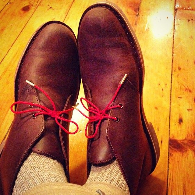 New boots + new laces  clarks  stolenriches  goldtips (at all up in  brooklyn)  8847240dec