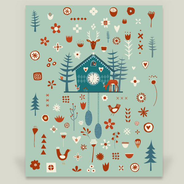 Shop for unique nursery art like the Cuckoo Clock Wall Cling by NicSquirrell on BoomBoomPrints today!  Customize colors, style and design to make the artwork in your baby's room their own!