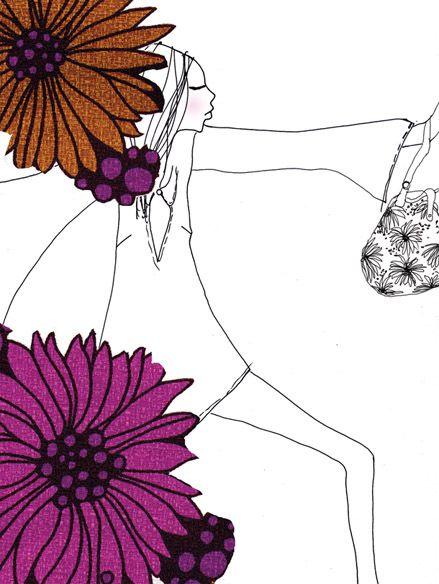 J&M; Davidson, London S/S 05 | aga baranska #illustration