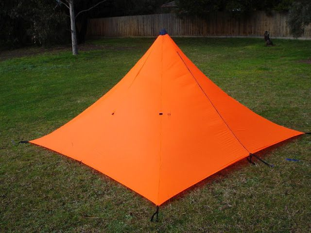 Make your own gear pyramid tent but make it with for Build your own canvas tent