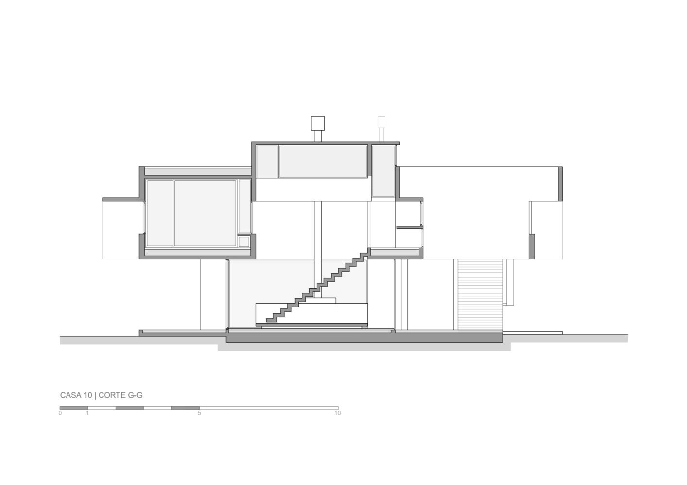 Gallery Of 10 House Luciano Kruk 35 House White Walls Floor Plans
