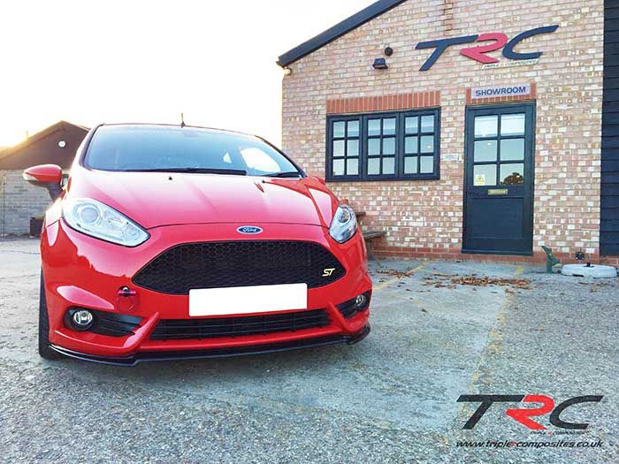 Ford Fiesta Mk7 5 St180 Modified Front Splitter Triple R Composites Body Performance Parts Ford Fiesta Performance Parts Ford