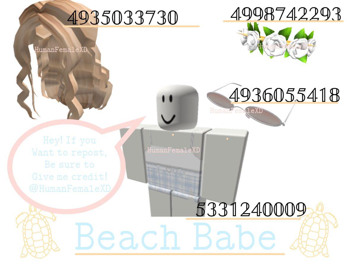 Bloxburg Beach Outfit Codes! ✨