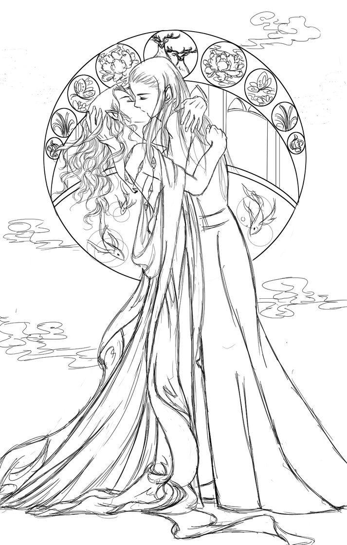 Thranduil & his wife | dibujos | Pinterest | Tolkien, Elfo y El señor