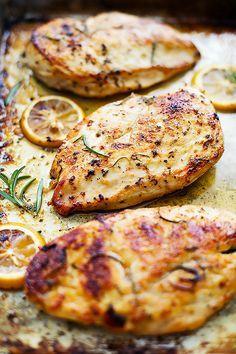 Fácil saludable al horno Pollo al limón |  Creme de la miga