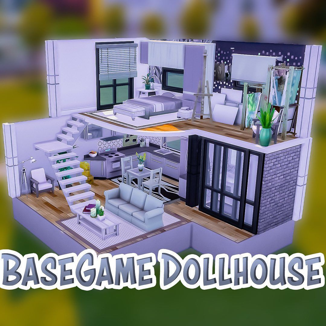 Cilla The Sims 4 Builder On Instagram Basegame Dollhouse Sims4house Sims4 Sims Sims4build Simsbui Sims 4 Loft Sims 4 House Design Sims House Design