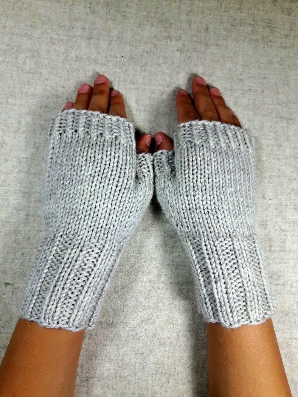Fingerlose Handschuhe für Kinder, natur | weichen Farben ...