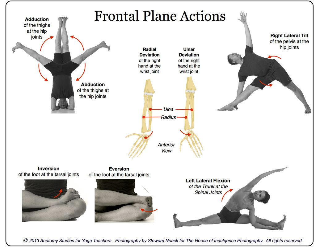 frontal / coronal plane actions | yogaberry | Pinterest | Planes ...