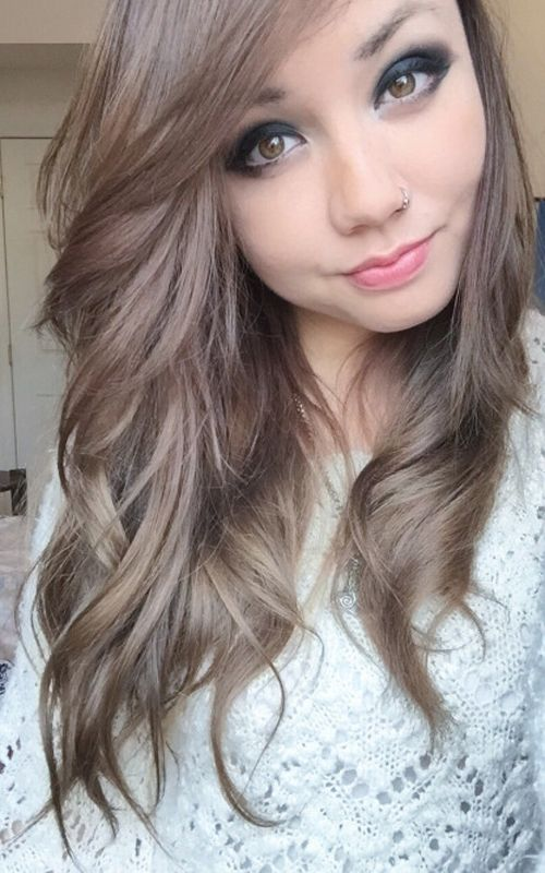 Charming Natural Light Ash Brown Hair Photo Gallery