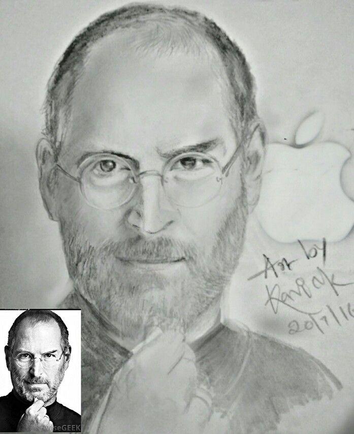 My pencil sketch mr steve jobs i phone founder