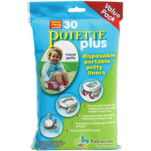 Potette Plus Training Potty Liners Value Pack 30 Liners White Walmart Com Portable Potty Travel Potty Potty Trainer