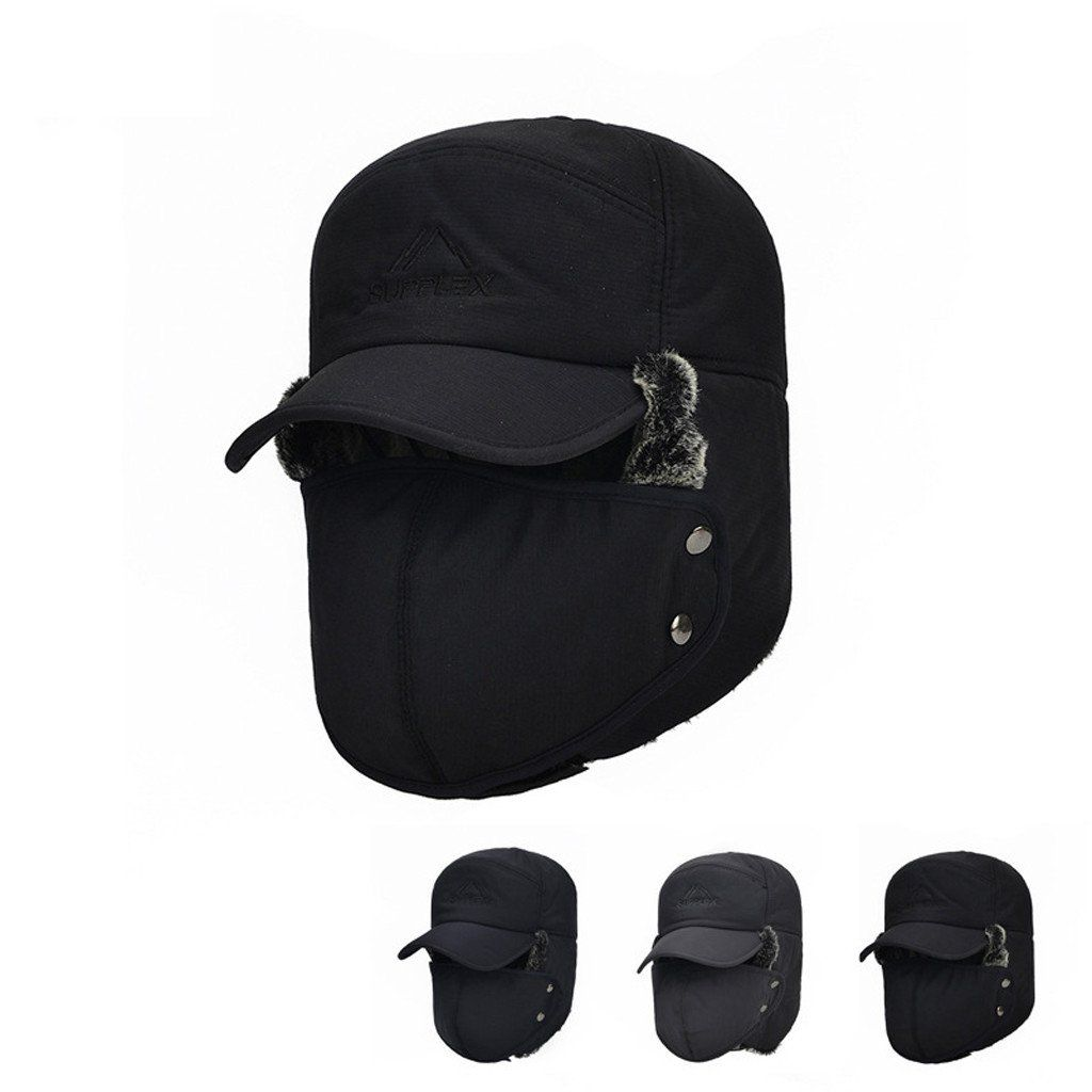 Women Winter Ski Hat Protectors Thickening Thermal Bomber Hats