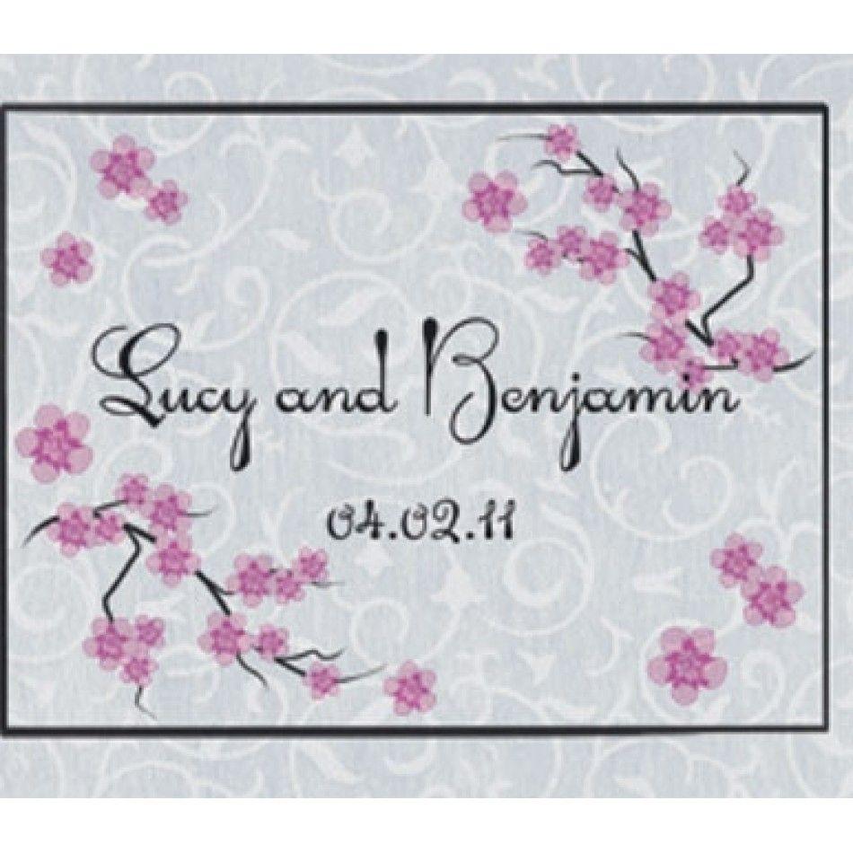 Personalized Cherry Blossom Wedding Aisle Runner [489-60-0504 Custom ...
