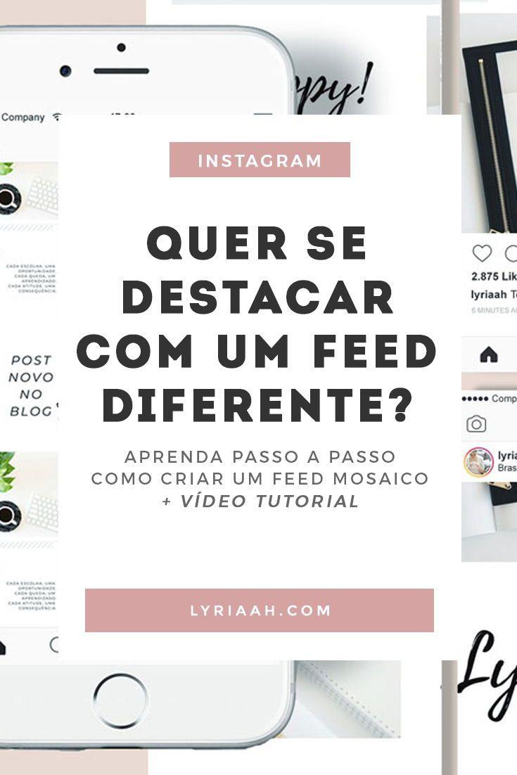 Aprenda Como Fazer Um Feed Mosaico No Canva Instagram Dicas