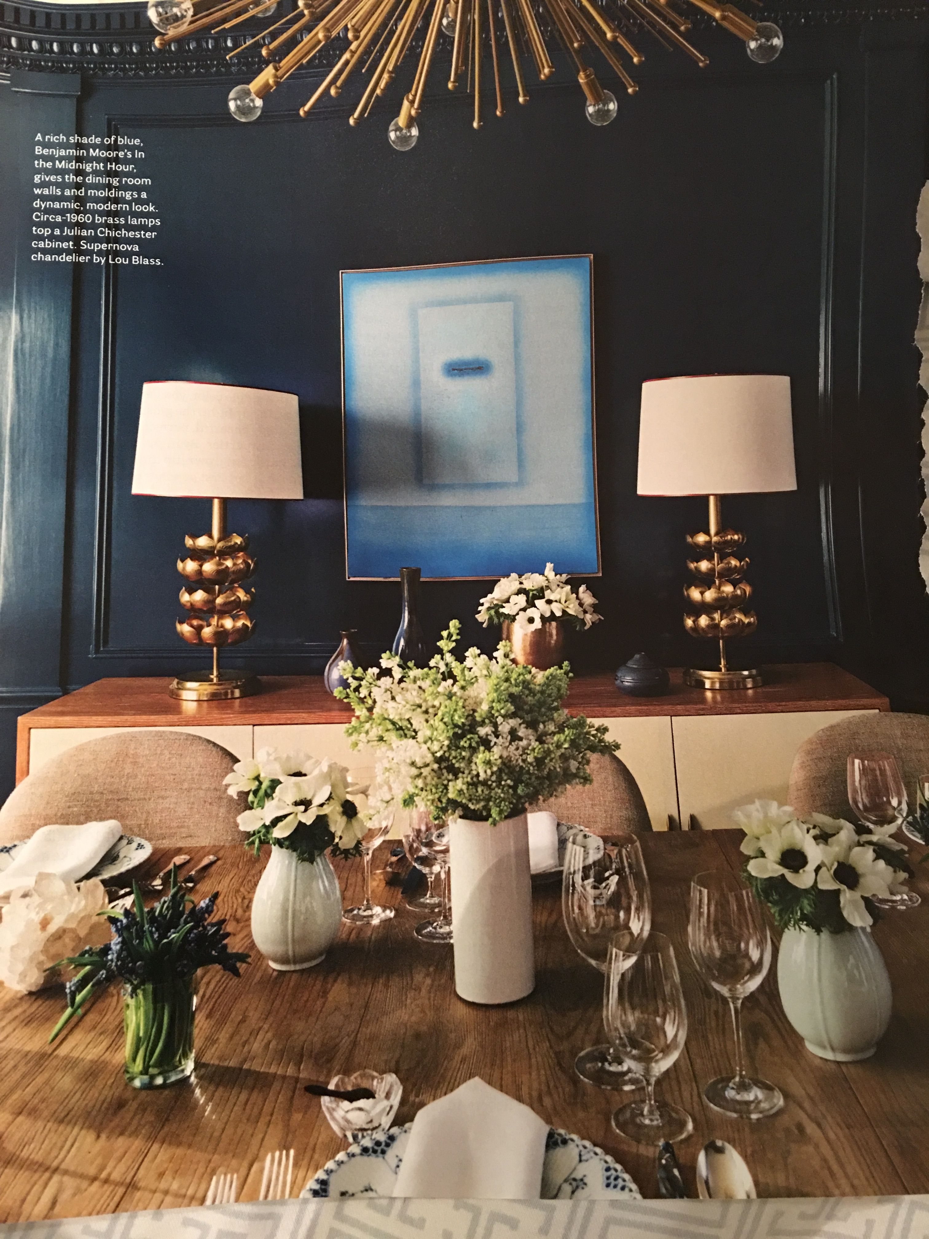Benjamin Moore Midnight Hour Dine And Draw Room