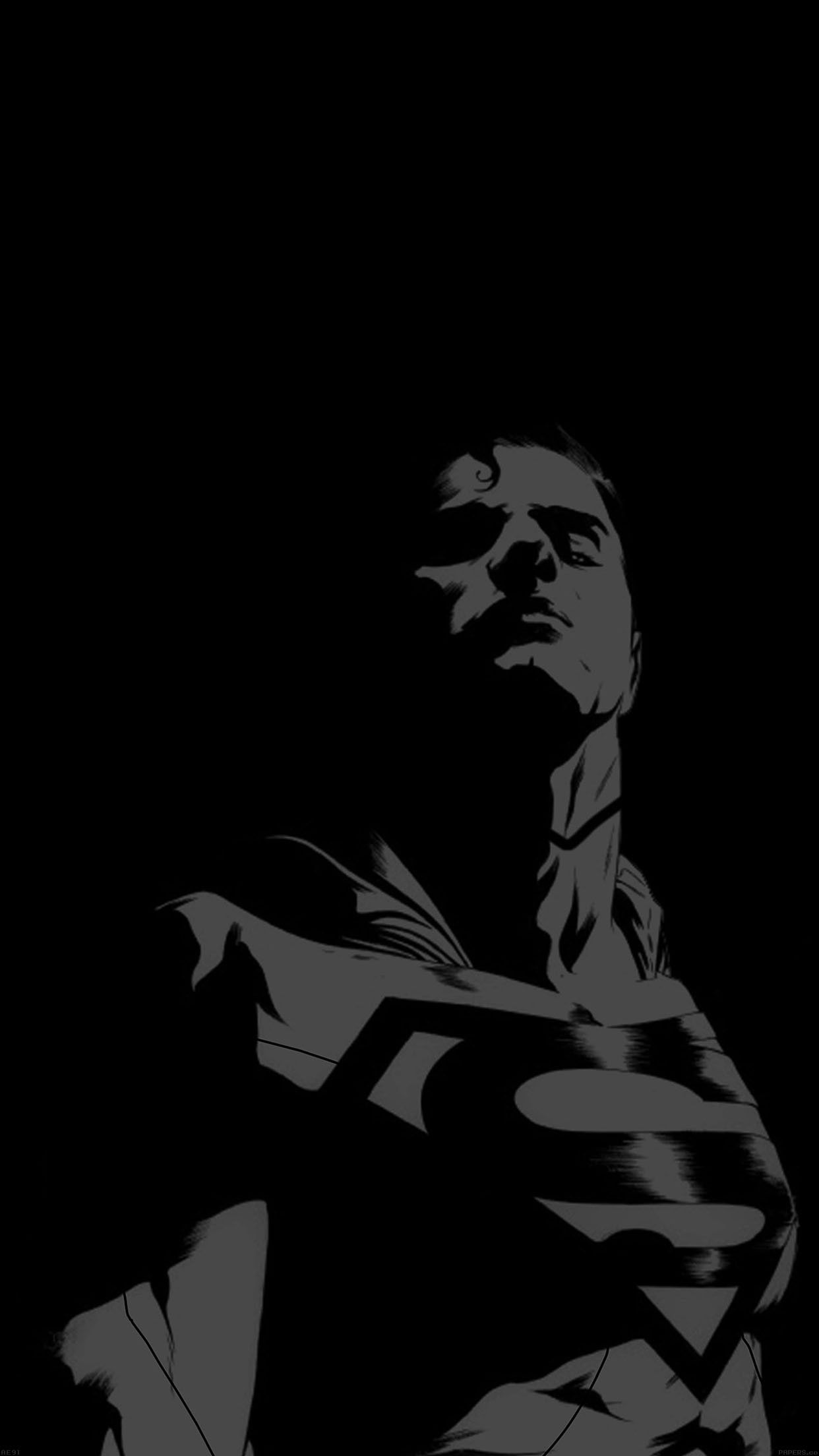 Superman Looking Down On Us Minimal Iphone 6 Plus Wallpapers