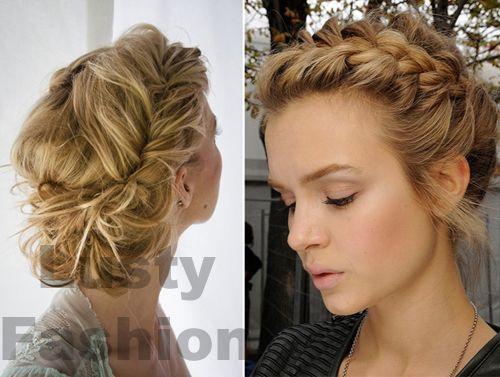 Messy side braid updo featured on lustyfashioncom  Hair