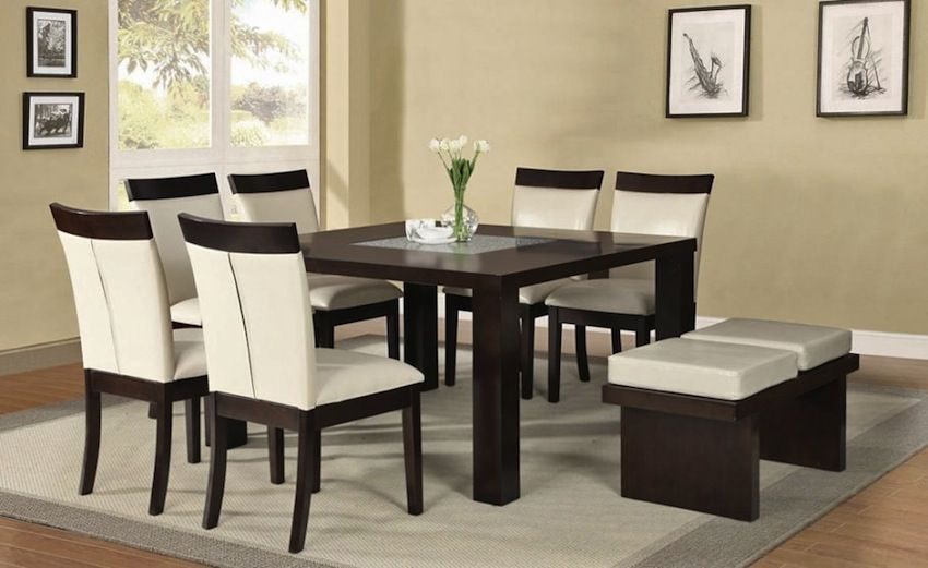 Room · Winsome Two Colors For Square Dining Table Plus Contemporary ...