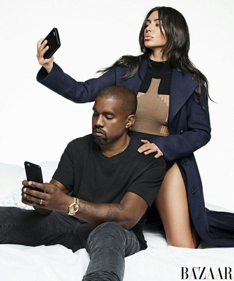 kim kardashian & kanye west harpers bazaar september 2016 cover shoot