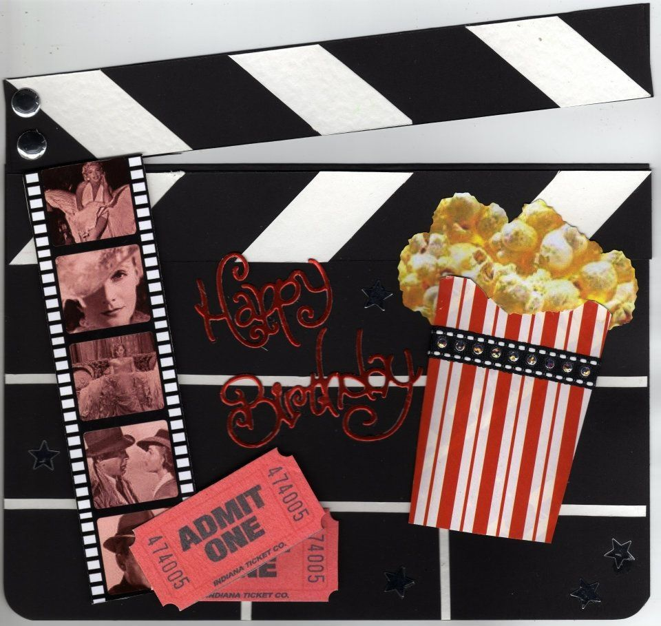 Clapper Board Birthday Card For A Movie Lover Birthday Cards Homemade Cards Cards Handmade