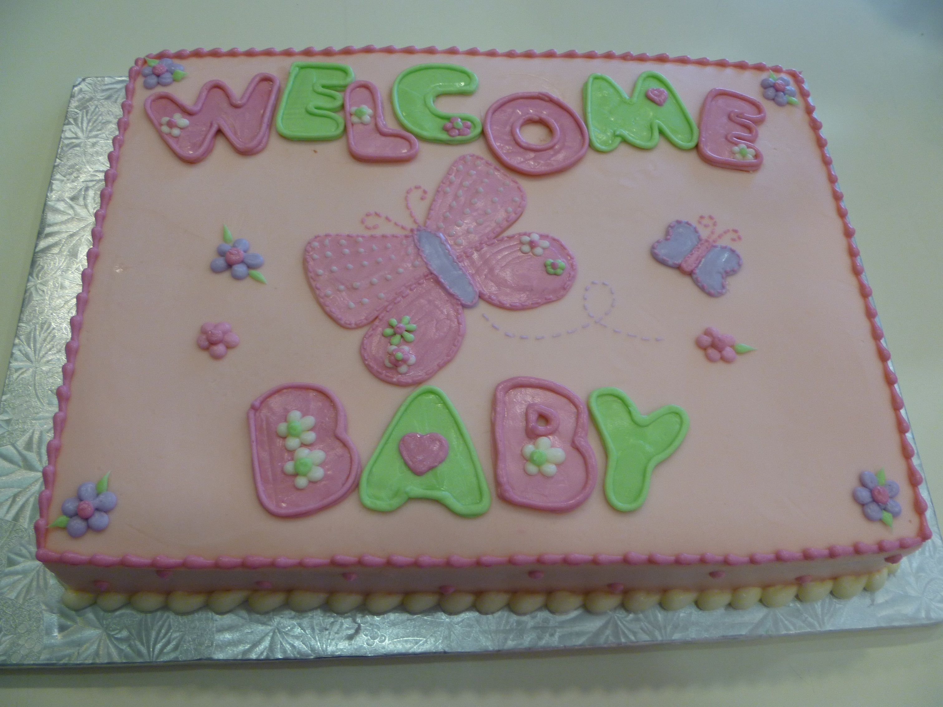 Butterfly Baby Shower Cake Outta The Oven