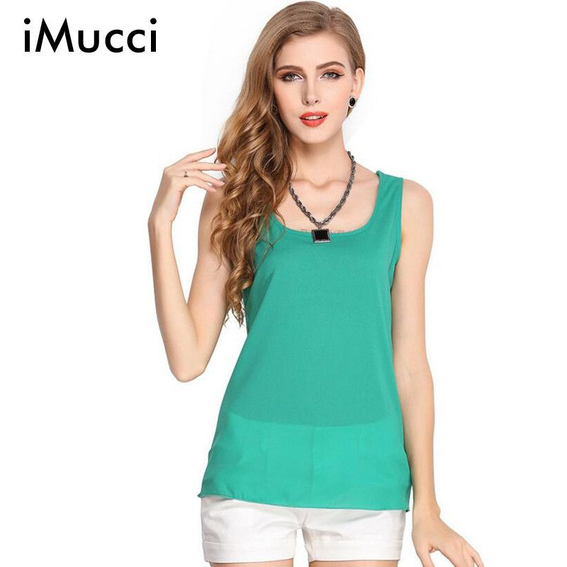 f8800a90c9cde Click to Buy    Mulitcolor Candy Colors Sleeveless Tops Women Plus Size 3XL  Chiffon Vest Red White Yellow Tank Tops Women New 2016 Halter Top  Affiliate