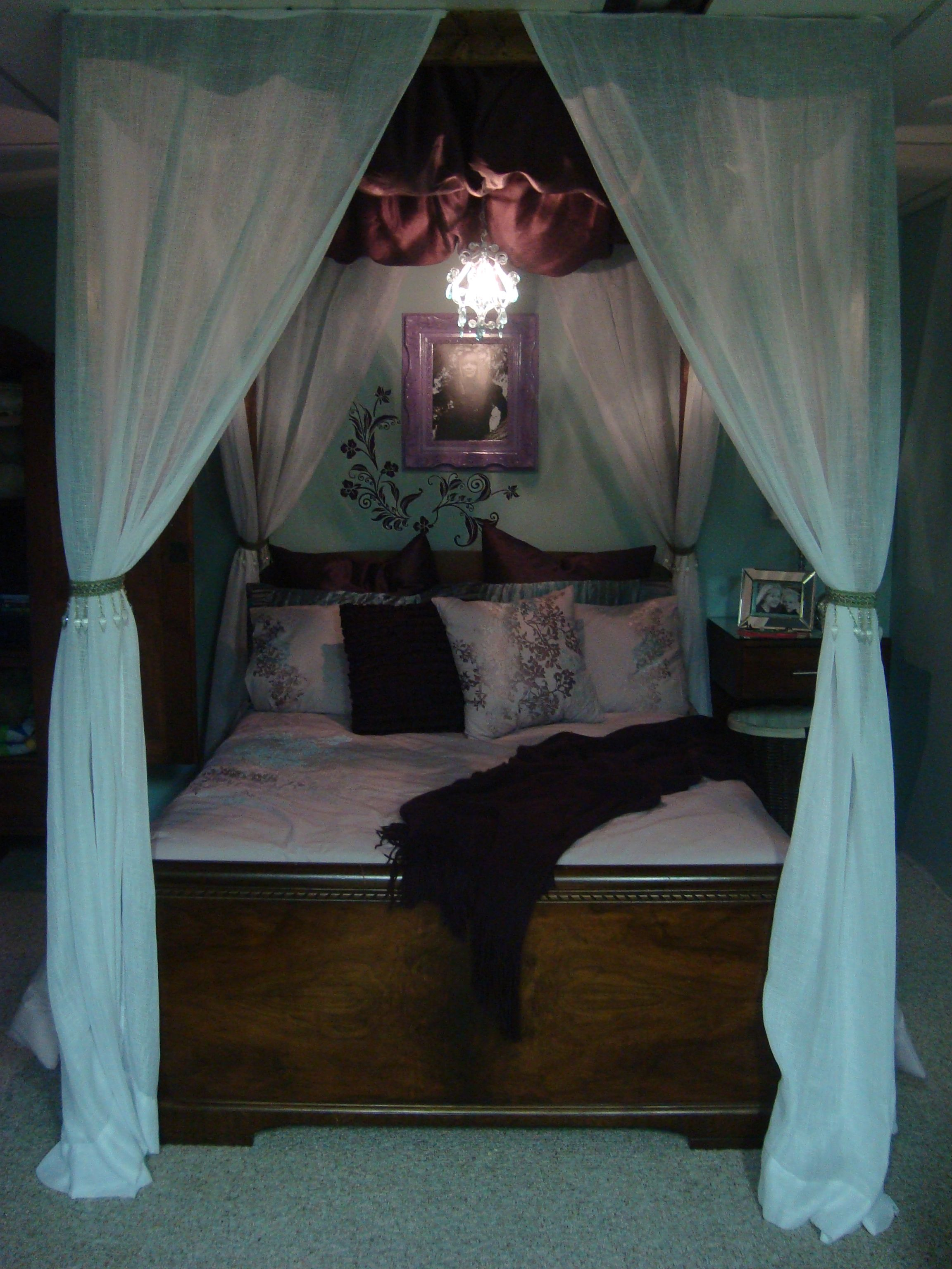 """Make your own """"Princess"""" canopy bed. All you need is a"""