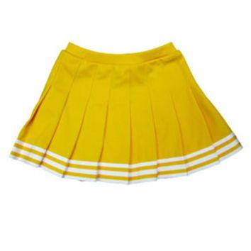In Stock Elastic Waist Knife Pleat Skirt