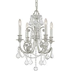 Includes 72 inches of chain and 120 inches of wire fixture finish off regis olde silver four light chandelier with hand polished crystal by crystorama lighting group regis olde silver four light chandelier with hand mozeypictures Image collections