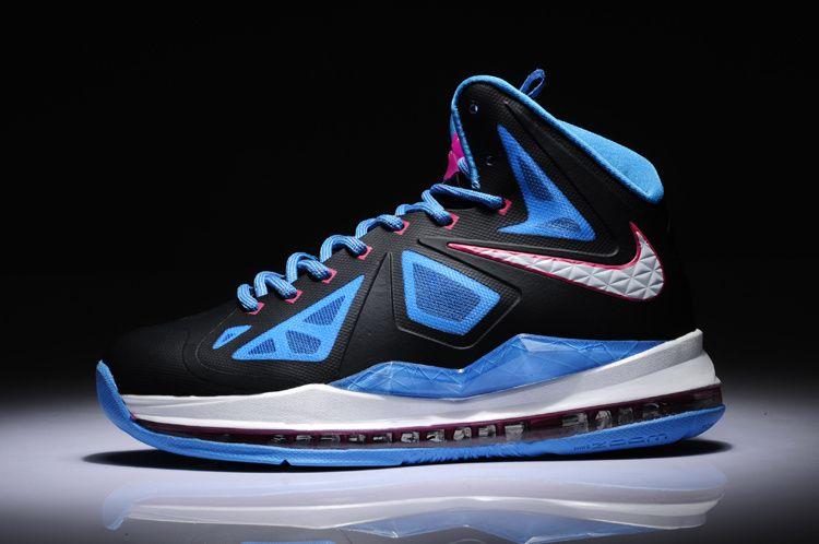Mujer Lebron zapatos 2013 nike LeBron X X X GS 543564 005 P caliente o azul 9986cd