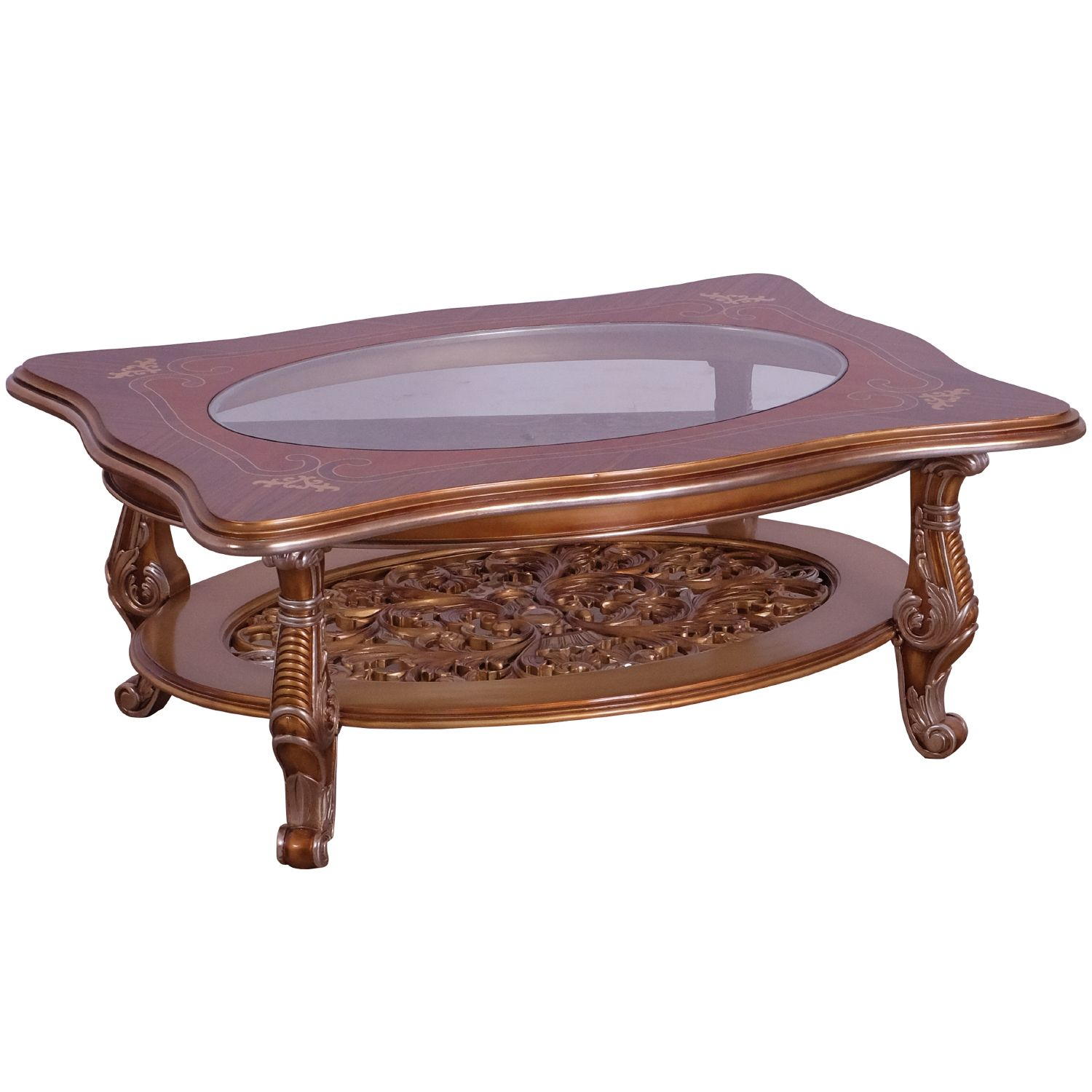 Solid Oak Glass Coffee Table Grand