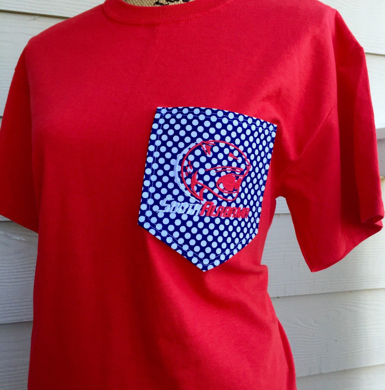 T shirt design huntsville al - Custom University Of South Alabama Pocket T Shirt By Southernstitches956 On Etsy Https