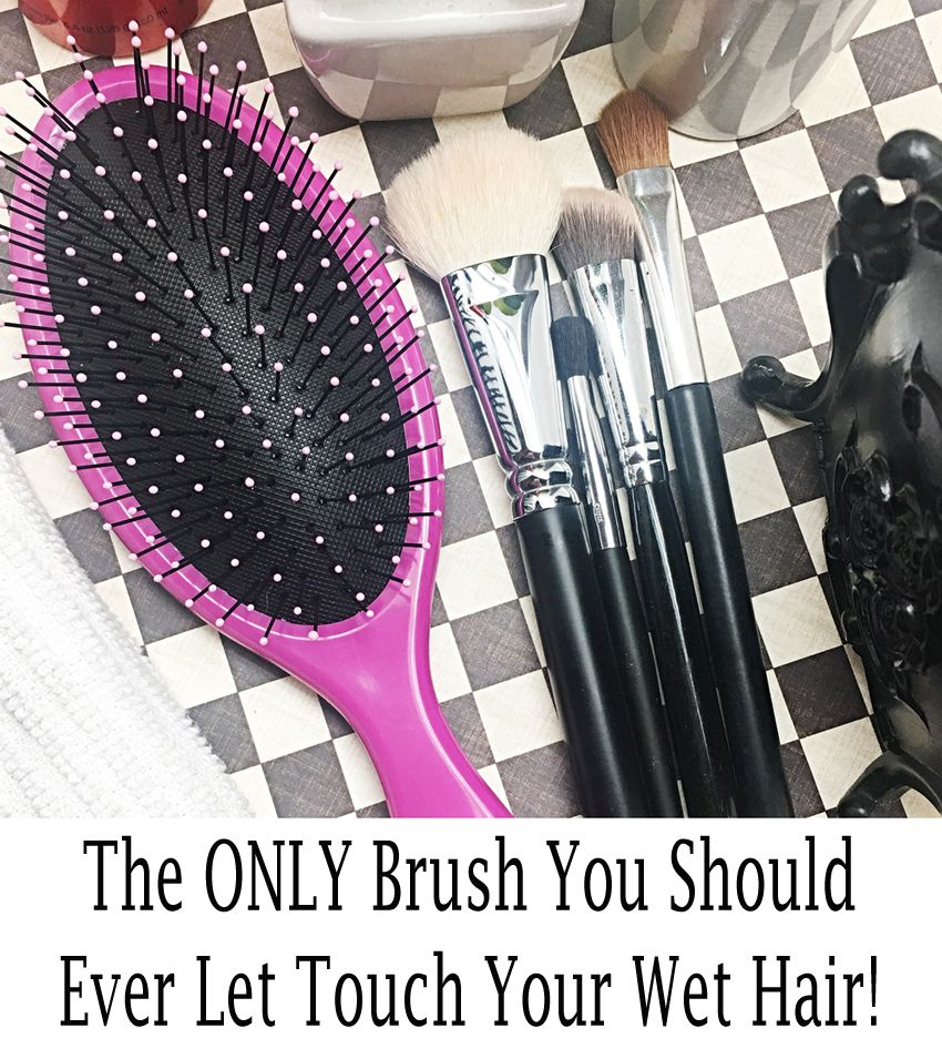 Wet hair is fragile! This is the ONLY brush to let near it. #hair #beauty