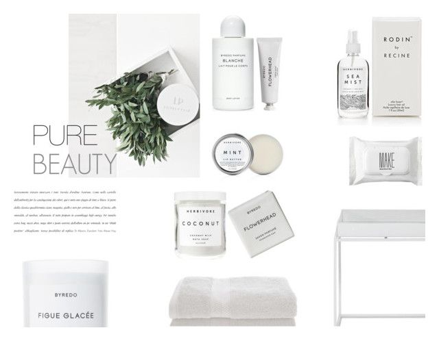 """""""Pure Beauty"""" by nmkratz ❤ liked on Polyvore featuring beauty, Rodin, Byredo, Herbivore Botanicals, Make, Home City, white, Beauty, pure and byredo"""