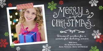 Christmas Chalkboard Snowflakes Photo Cards Products