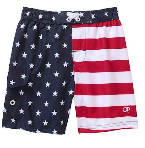 c6768826820d1 Boys American Flag Swim Trunks Shorts Swimsuit 2T 3T 4T 5T NEW OP #OP  #SwimBottoms